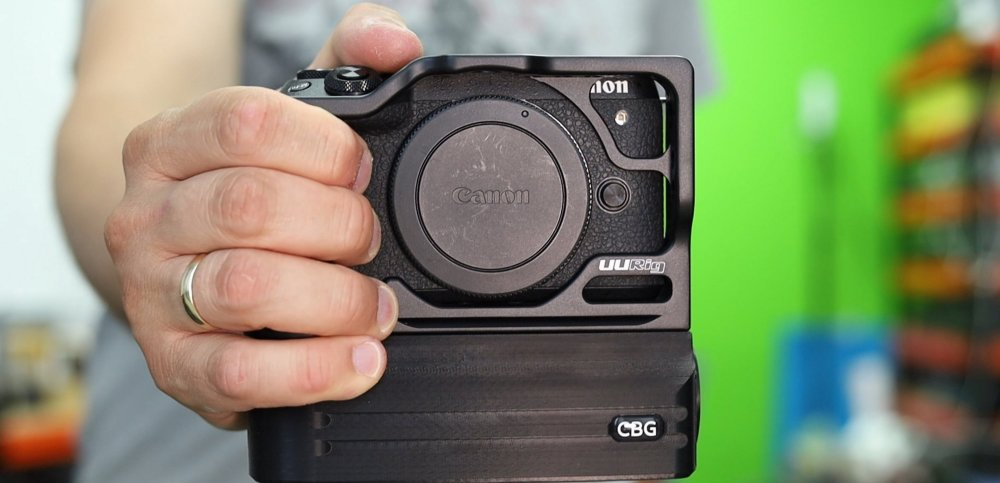 Battery Add-On and Cage combo for Canon EOS M6 Mark II
