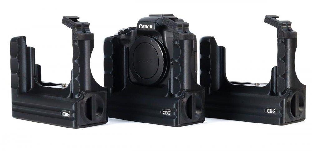 Extended Battery Grip for Canon EOS M50 with extra cold shoe