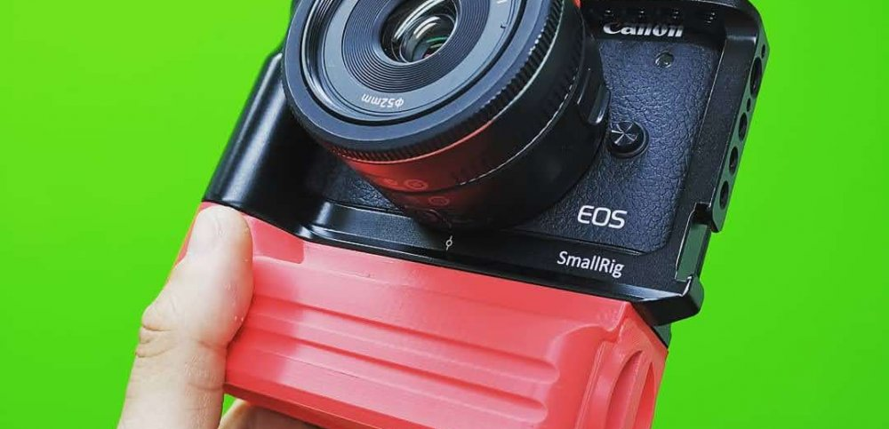 Custom Battery Grips EOS M6 Mark II Cage Battery Add-On in red