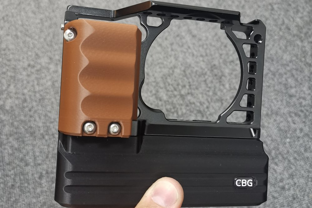 Brown grip handle for SmallRig 1661 and 1889 Cage for Sony Alpha A6000  A6300 and A6400 cameras