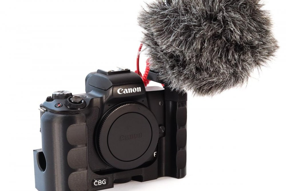 Double Sided Extension Grip with Extra Cold Shoe for Canon EOS M50