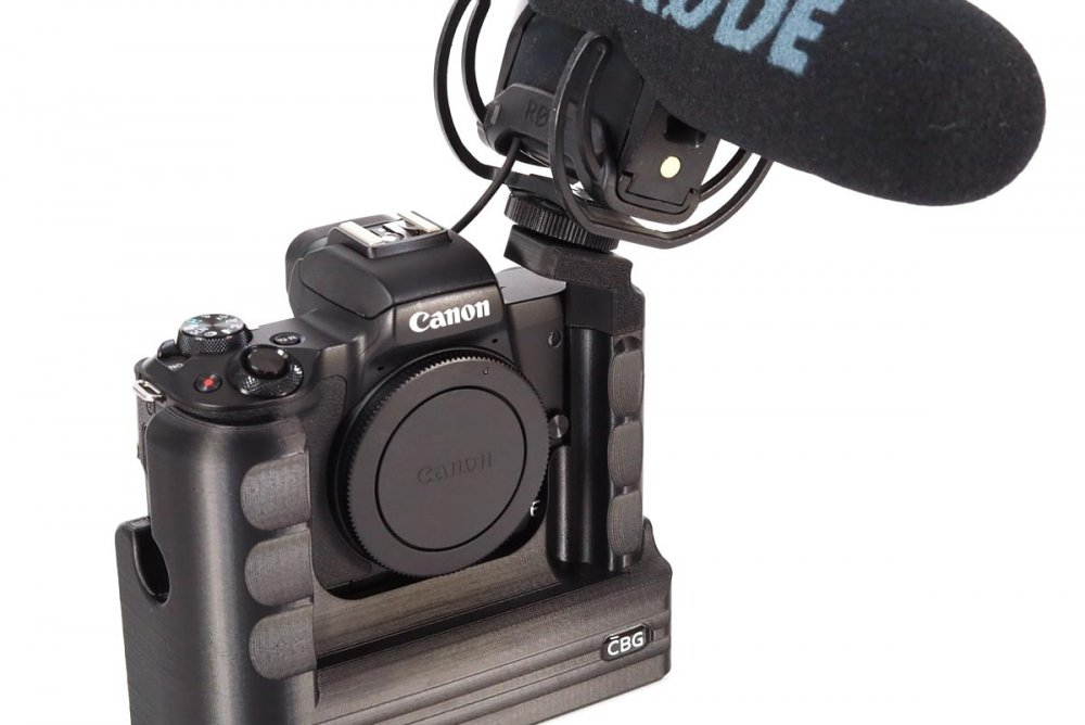 Extended Battery Grip with extra cold shoe for Canon EOS M50