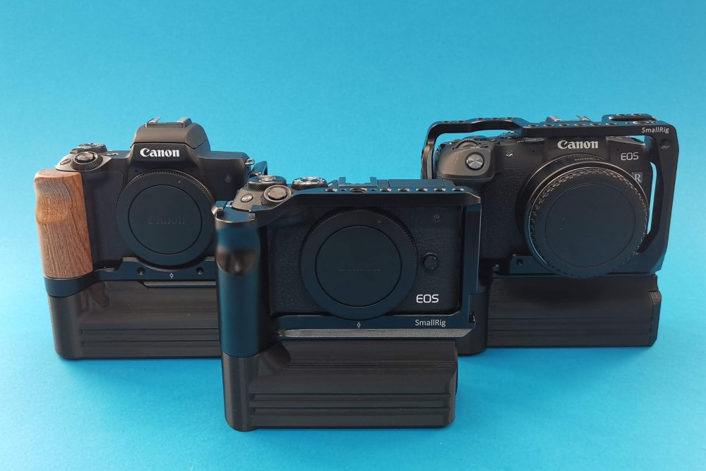 Canon EOS RP, Canon EOS M6 mark II, Canon EOS M50. SmallRig Cages and CustomBatteryGrips Cage Battery Add-Ons