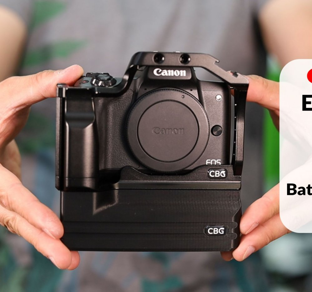 Battery Extension Add-On for Canon EOS M50 Cage