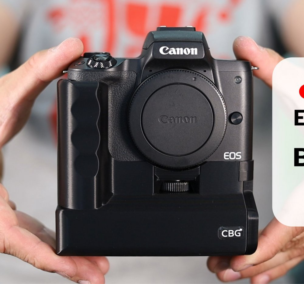 Battery Grip for Canon EOS M50 by Custom Battery Grips