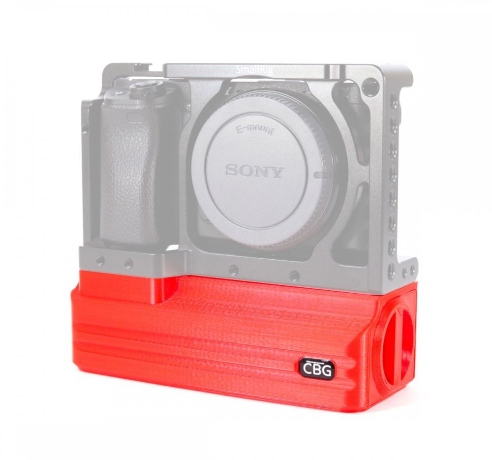 Red Battery Add-On for SmallRig 1661 Sony A6000 A6300 A6400 A6500 Cage