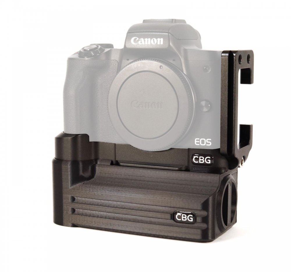 L-Bracket and Battery Add-On for Canon EOS M50