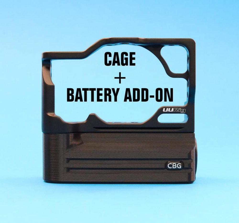 Cage + Battery Add-On For Canon EOS M6 Mark II
