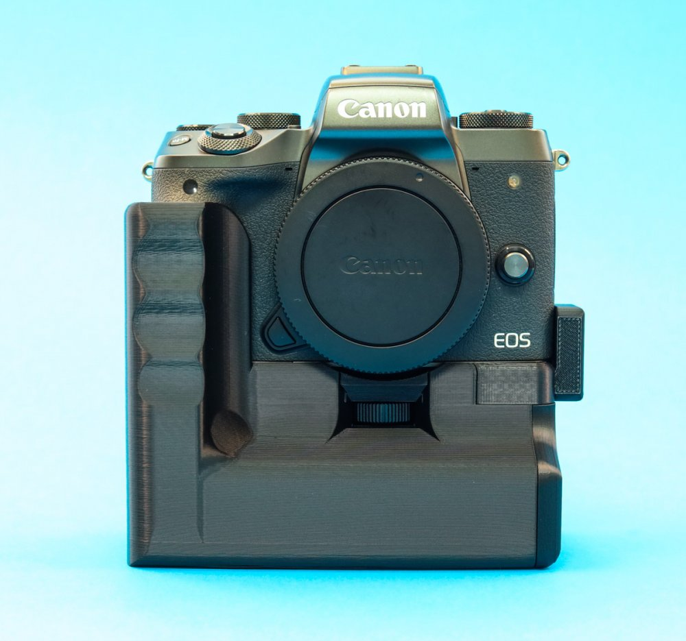 Battery Grip With Extra Cold Shoe for Canon EOS M5