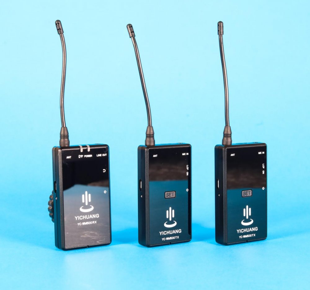 Wireless Lavalier Microphone System Yihuang YC-WM500X2 20 channel UHF