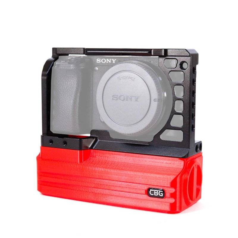 Cage and Red Battery Add-On for Sony A6000 A6300 A6400 A6500