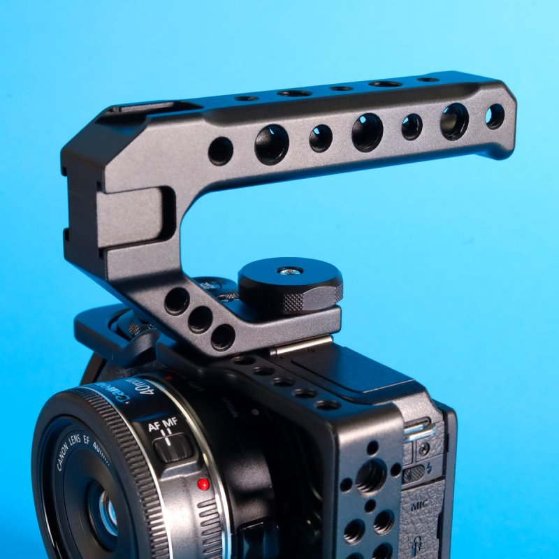 Universal Camera Top Handle Grip With Cold Shoe Mount