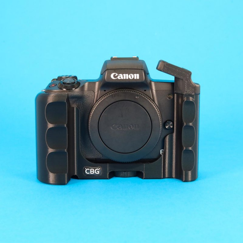 Double-Sided Grip with Extra Cold Shoe for Canon EOS M50