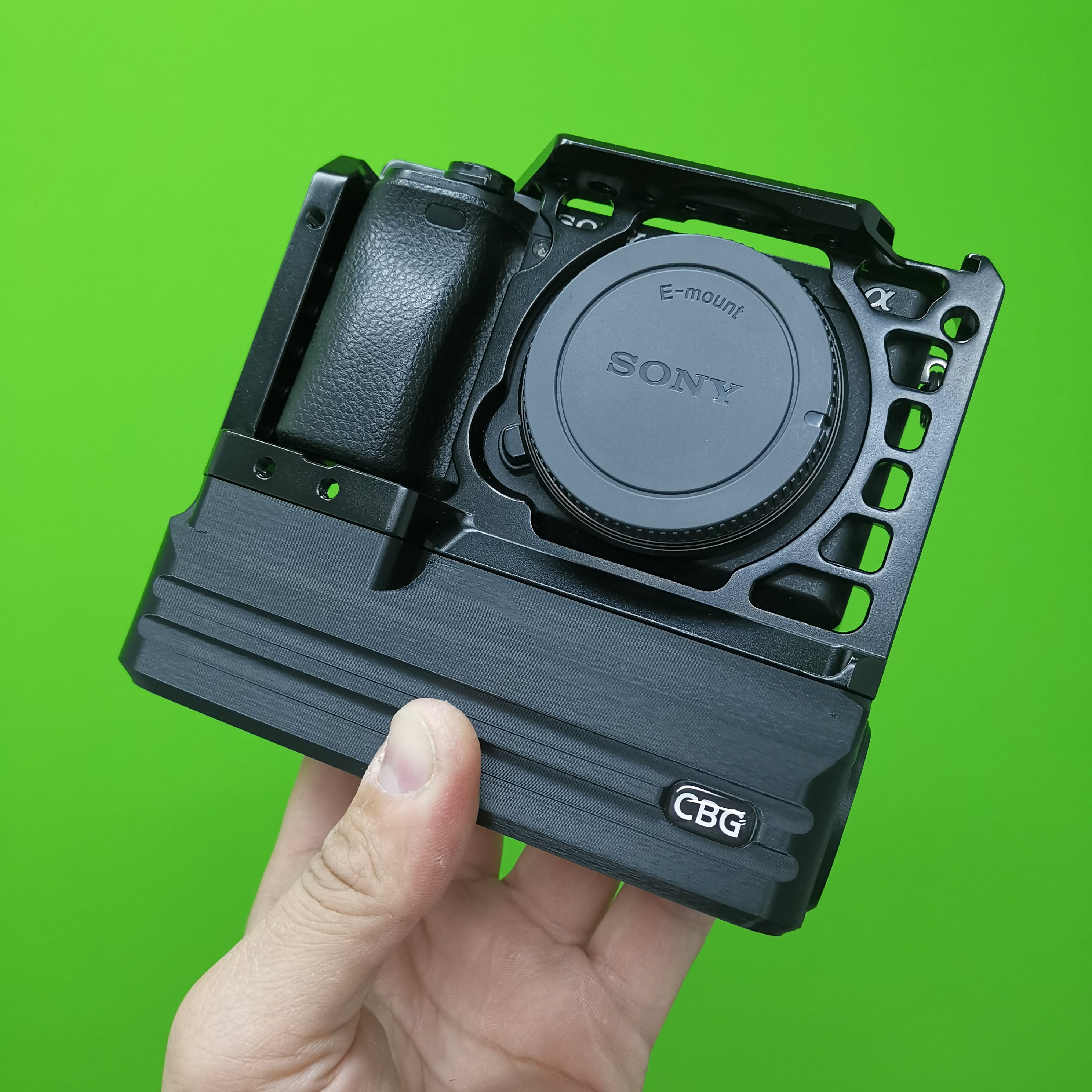 Custom Battery Grips Battery Add-On for SmallRig 1661 Cage compatible with Sony A6000 A6300 A6400 and A6500 cameras