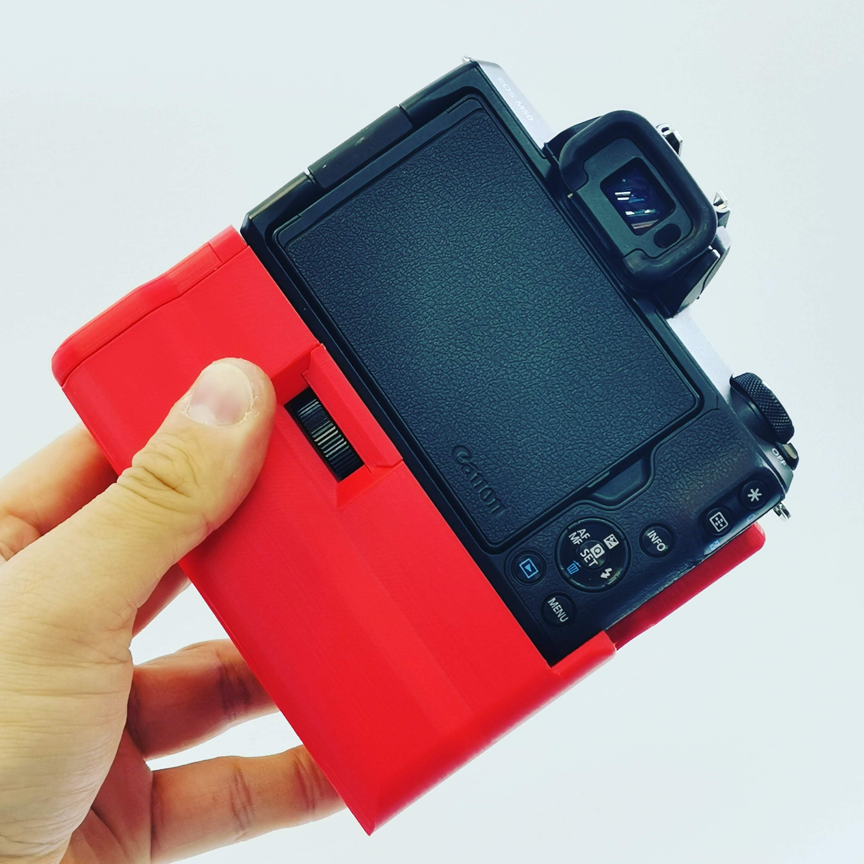 We're still thinking about releasing a line of colored grips for EOS cameras